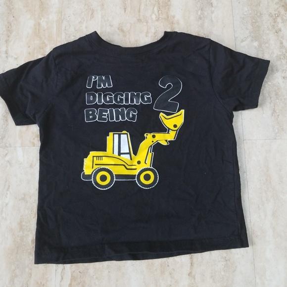 2nd Birthday Construction Truck Tshirt Toddler M 5c23abec534ef961deebef40